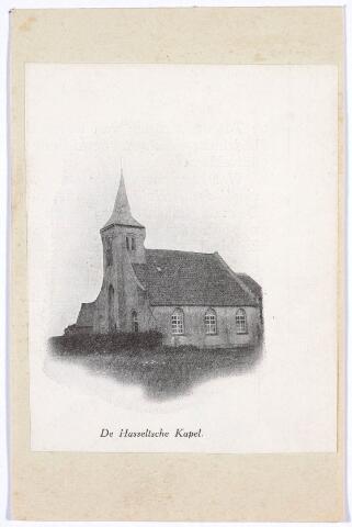 020232 - Hasseltse kapel. De indruk bestaat dat de kapel vanaf het begin een aangelegenheid is geweest van de inwoners van de herdgang Hasselt, dat in de 16e eeuw tamelijk drukbevolkt was. Toch is de kapel nooit uitgegroeid tot een parochiekerk.
