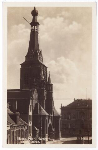 001882 - Oude Markt voorheen Markt met kerk van het Heike en voormalig gemeentehuis.