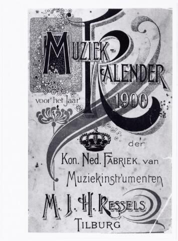 038363 - Voorpagina van de muziekkalender 1900 van de N.V. Koninklijke Nederlandsche Fabriek van Muziekinstrumenten, voorheen M.J.H. Kessels