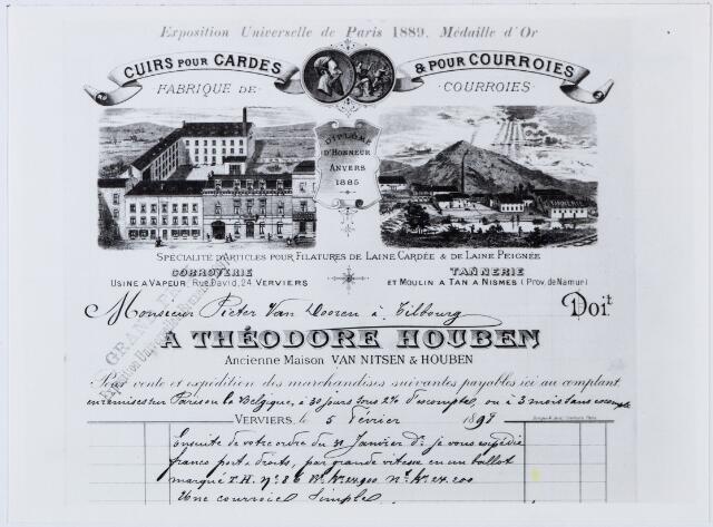 060327 - Briefhoofd. Nota van A. Théodoore Houben voor Pieter van Dooren te Tilburg
