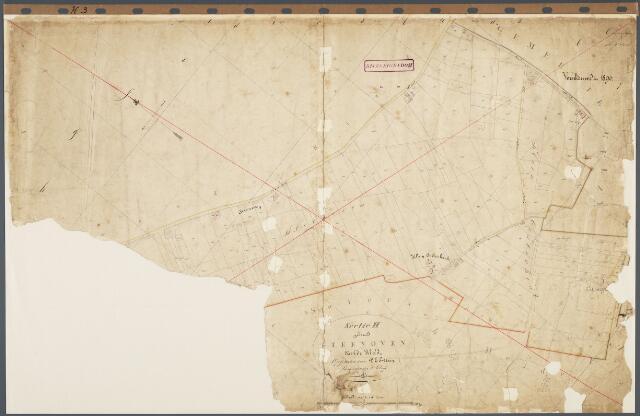 104778 - Kadasterkaart. Kadasterkaart Oosterhout Sectie H3, Schaal 1: 2.500, genaamd Steenoven.