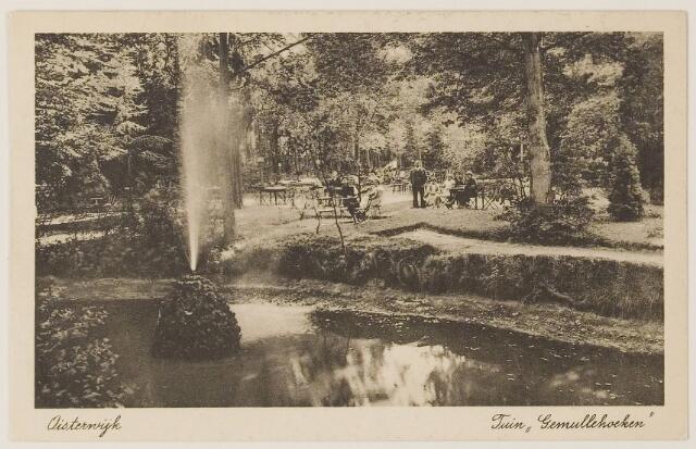 """073706 - Tuin van hotel de """"Gemullehoeken"""" gelegen aan de Gemullehoekenweg."""