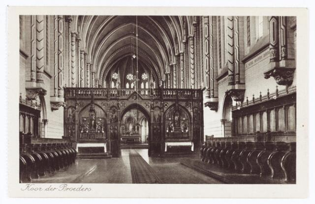 062125 - Kloosters. Interieur van de abdij van Onze Lieve Vrouw van Koningshoeven aan de Eindhovenseweg 3 (koos der broeders)