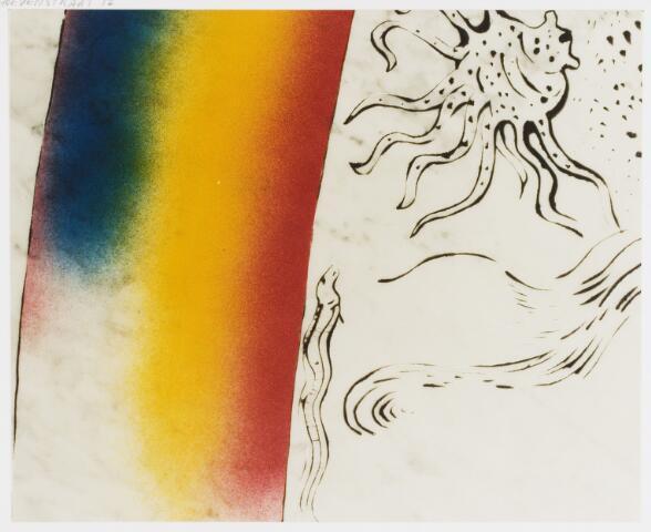 067753 - Kunst in de openbare ruimte. Onderwijs. Détail van KUAN van Theo BESEMER. Zie ook fotonummer 067752.