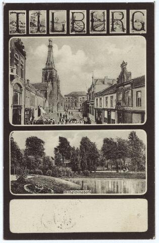 003125 - Boven de Markt met de kerk van het Heike, onder het Wilhelminapark.
