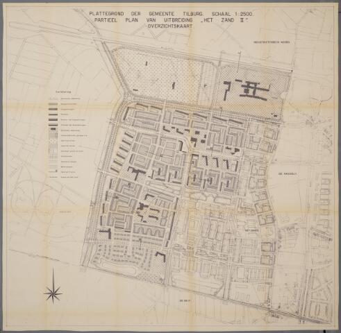 059444 - Kaart. Stadsuitbreiding. Bestemmingsplan. Het Zand II, 1958