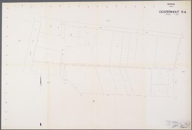104921 - Kadasterkaart. Kadasterkaart / Netplan Oosterhout. Sectie R4. Schaal 1: 1000.