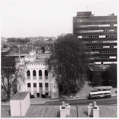 036461 - Panorama van Tilburg vanaf de flat aan het Koningsplein.