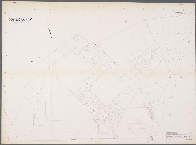 104939 - Kadasterkaart. Kadasterkaart Oosterhout. Sectie G4. Schaal 1: 2000.