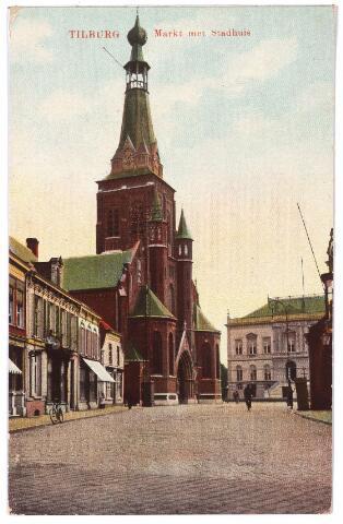 001866 - Oude Markt, voorheen de Markt met kerk van het Heike en het voormalig gemeentehuis.