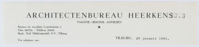 060257 - Briefhoofd. Briefhoofd van Architectenbureau Heerkens, Lourdesstraat 2
