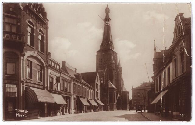 001880 - Oude Markt voorheen de Markt met kerk van het Heike.