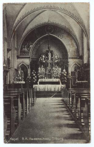 000491 - Onderwijs. Interieur kapel R. K. Kweekschool St. Stanislaus, verbonden aan het moederhuis van de fraters aan de Gasthuisstraat.