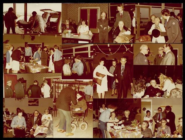 1696145 - Fotocollage Rode Kruis, afdeling Tilburg. Het kerstfeest voor zieken, gehandicapten en eenzame ouderen, georganiseerd door de Colonne in 1974.