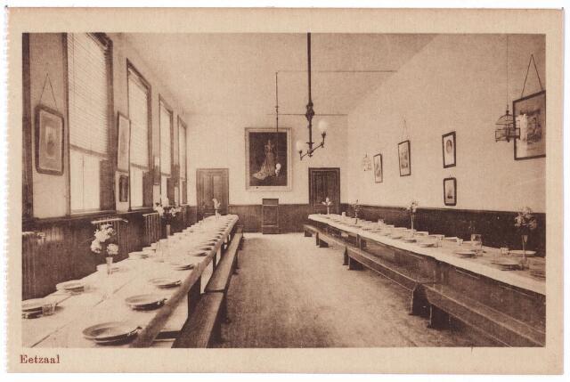 001797 - Onderwijs. Oude Dijk, eetzaal van de kweekschool van de zusters van liefde.