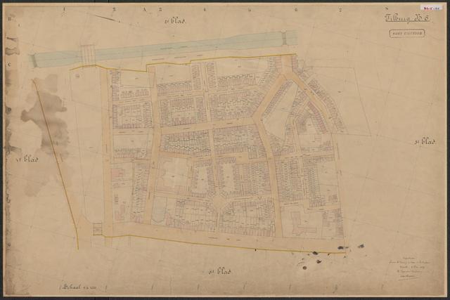 652582 - Kadasterkaart Tilburg, Sectie B (Loven), blad 6. Schaal 1:1000. 1929.