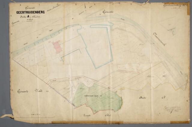 059396 - Kadasterkaart. Kadasterkaart Geertruidenberg sectie A 1e blad