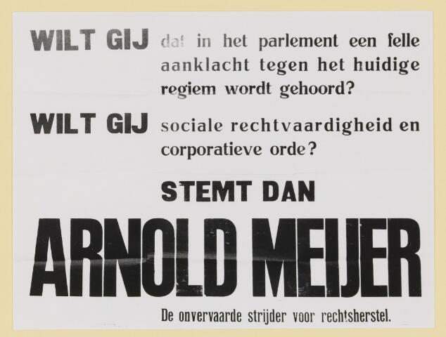 077340 - Affiche Zwart Front 1934-1941