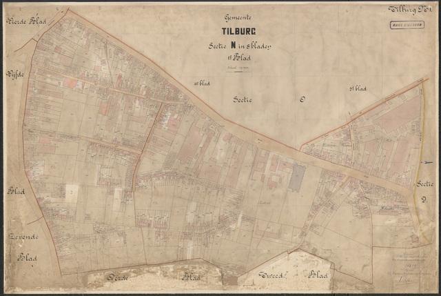 652620 - Kadasterkaart Tilburg, Sectie N (Veldhoven), blad 1. Schaal 1:1000. 1915.