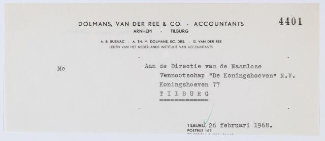 059948 - Briefhoofd. Briefhoofd van Dolmans, van der Ree & Co. - Accountants Arnhem en Tilburg