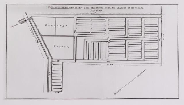 042279 - Riolering. Plattegrond van de vloei- en drainagevelden in De Witsie anno 1903