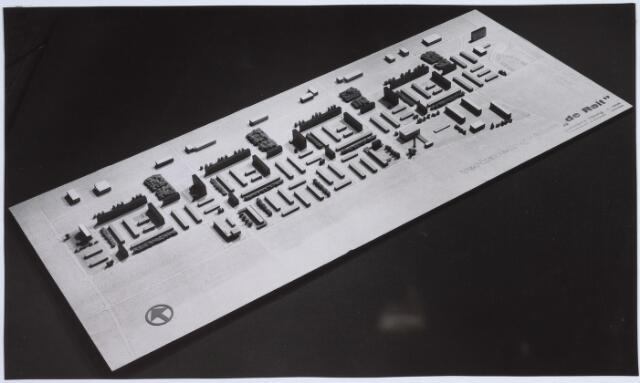 """026268 - Maquette van het verkavelingsplan """"De Reit"""