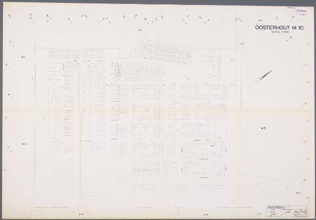 104916 - Kadasterkaart. Kadasterkaart / Netplan Oosterhout. Sectie M10. Schaal 1: 1000.