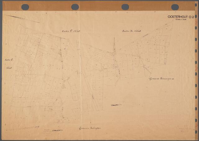 104853 - Kadasterkaart. Kadasterkaart Oosterhout Sectie O1, Schaal 1 : 2.500
