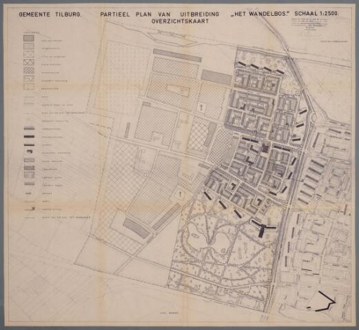 059440 - Kaart. Stadsuitbreiding. Bestemmingsplan. Het Wandelbos I, 1963