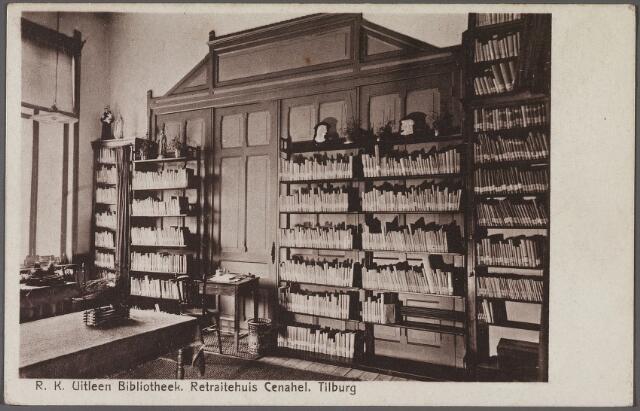 010986 - Bibliotheek van het retraitehuis Cenakel aan de Koningshoeven, thans Kempenbaan.
