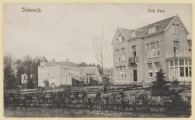 073883 - Villapark 'Hoog'gezien vanuit zuidelijke richting alsmede de gelijknamige villa, hier woonde  notaris van de Klei.