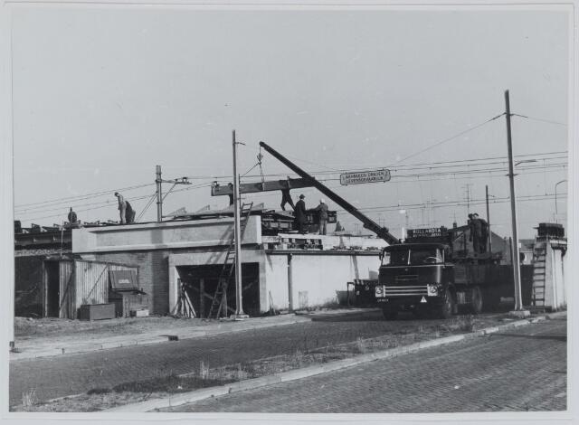 037149 - Spoorwegen: aanleg hoogspoor (St. Ceciliastraat)
