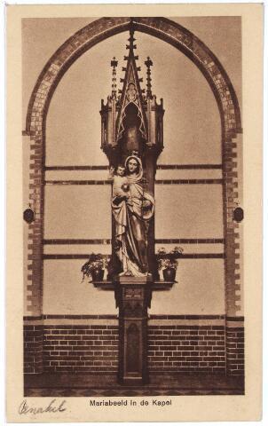 001407 - Mariabeeld in de kapel van het retraitehuis en klooster van O.L.V. van het Cenakel aan de Koningshoeven, nu Kempenbaan.