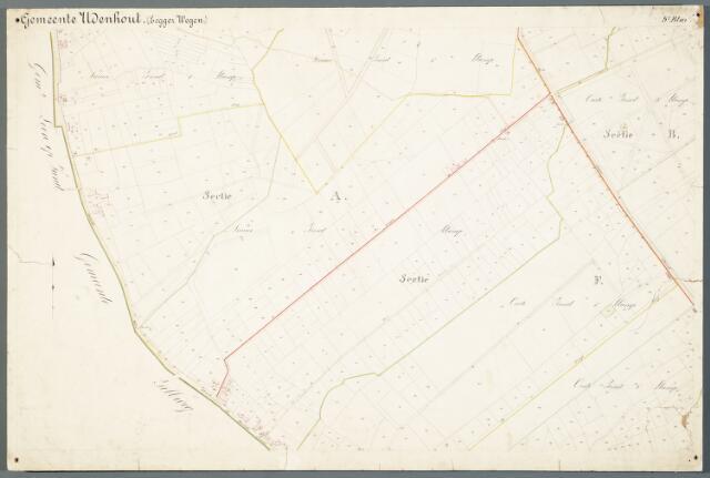 051000 - Kaart. Wegenkaart Udenhout