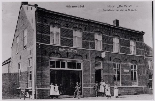 084345 - Café/tramstation de Valk van de familie Damen aan de Gelderstraat.