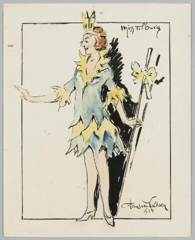 068603 - Miss Tilburg 1928, getekend door Frans van Valderen.