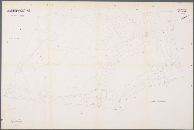 104944 - Kadasterkaart. Kadasterkaart / Netplan Oosterhout. Sectie N2. Schaal 1: 2.500