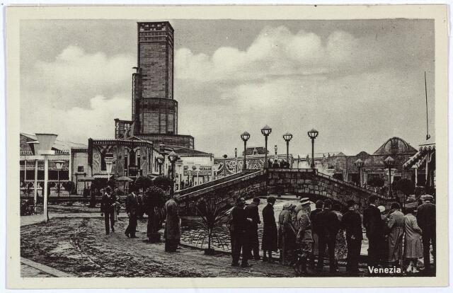 003336 - Het attractieterrein Venezia op de Internationale Tentoonstelling Stad Tilburg 1934.