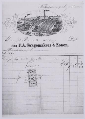 061197 - Briefhoofd. Nota van F.A. Swagemakers & Zonen, voor J de Beer & Zn te Tilburg