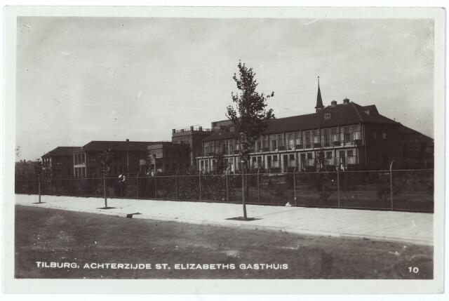 000555 - Elisabethziekenhuis. Gezondheidszorg. Ziekenhuizen. Achterzijde St.  Elisabethziekenhuis, klasseafdeling. Gerard van Swietenstraat.
