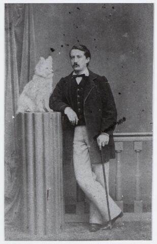 057077 - Jhr. Donas Theodore Alberic (Donatus) van den Bogaerde van Terbrugge (1829-1895), die in 1849 van zijn vader het heerlijk jachtrecht van Moergestel kreeg en daardoor heer van deze plaats werd.