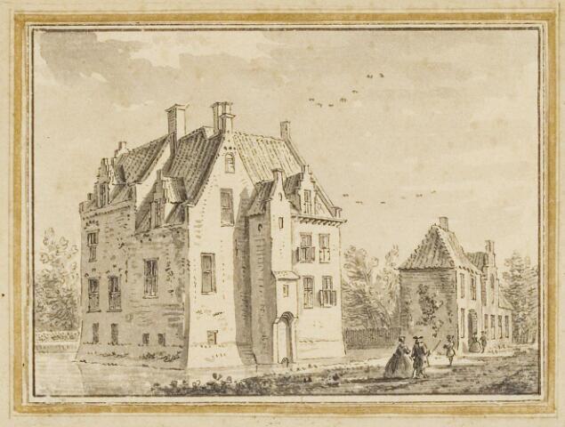 068461 - Tekening. Het huis Brakkenstein te Oosterhout, getekend door A. de Haen.