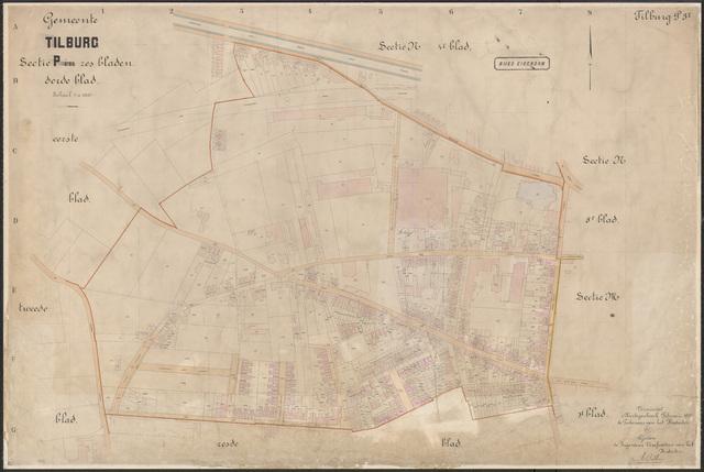 652628 - Kadasterkaart Tilburg, Sectie P, blad 3. Schaal 1:1000. 1922.