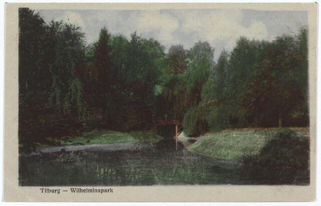 002934 - Wilhelminapark, vijver en brug.