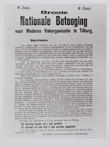 040898 - Vakbeweging. Groote Nationale Betoging voor moderne vakorganisatie te Tilburg. (1909)