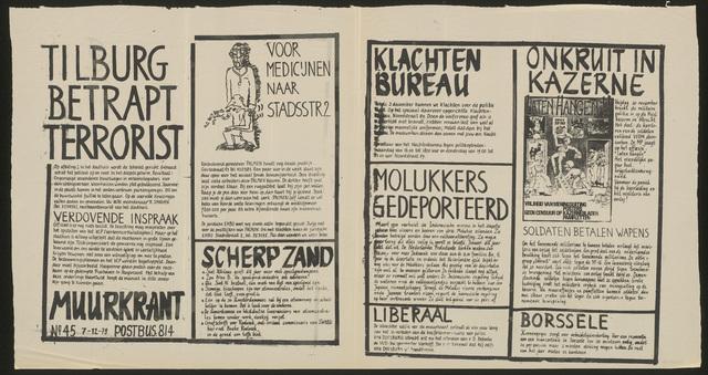 668_1979_045 - Muurkrant: Tilburg betrapt terrorist