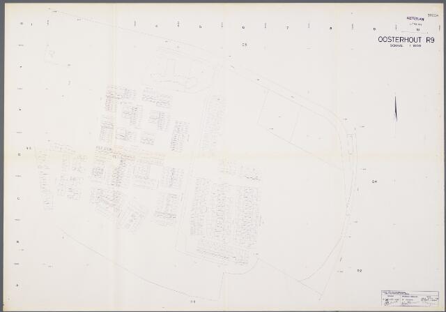 104930 - Kadasterkaart. Kadasterkaart / Netplan Oosterhout. Sectie R9. Schaal 1: 1000.