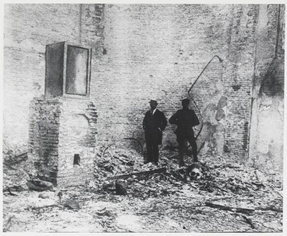055458 - R.K. Laurentiuskerk na de brand op 9 mei 1917.