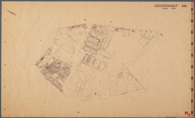 104828 - Kadasterkaart. Kadasterkaart Oosterhout Sectie M2, Schaal 1 : 2.500