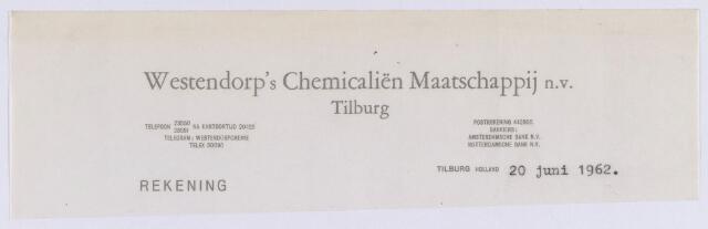 061418 - Briefhoofd. Briefhoofd van Westendorp's Chemicaliën Maatschappij N.V.